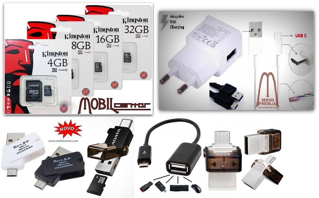 Memorije, USB stikovi, OTG, USB- Tip C